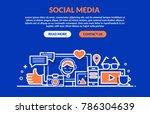 social media concept for web... | Shutterstock .eps vector #786304639