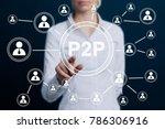 Businessman Press Button Peer...