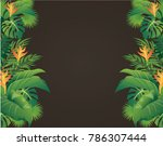 green leaves modern design and... | Shutterstock .eps vector #786307444
