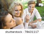 friends having lunch break | Shutterstock . vector #78631117