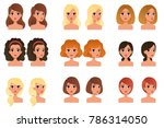 collection of beautiful young... | Shutterstock .eps vector #786314050
