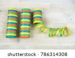colorful rolls of streamers on... | Shutterstock . vector #786314308