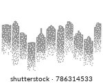 city skyline background vector... | Shutterstock .eps vector #786314533