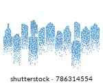 city skyline background vector...   Shutterstock .eps vector #786314554