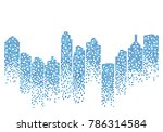 city skyline background vector... | Shutterstock .eps vector #786314584