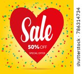 sale valentine's day template... | Shutterstock .eps vector #786314734