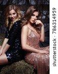 fashion portrait of two elegant ...   Shutterstock . vector #786314959
