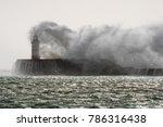 newhaven  uk  10 21 2017 storm... | Shutterstock . vector #786316438