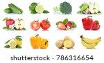 fruit fruits and vegetables... | Shutterstock . vector #786316654