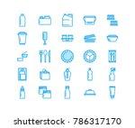 plastic packaging  disposable... | Shutterstock .eps vector #786317170