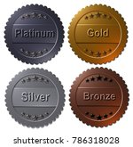 set of four 3d rendered medals  ... | Shutterstock . vector #786318028