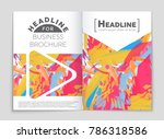 abstract vector layout... | Shutterstock .eps vector #786318586