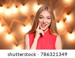 portrait of young funny woman... | Shutterstock . vector #786321349