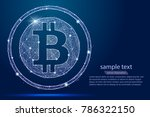 abstract bitcoin digital... | Shutterstock .eps vector #786322150