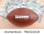 football ball and money on table | Shutterstock . vector #786322618