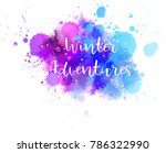 winter adventures abstract... | Shutterstock .eps vector #786322990