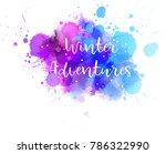 winter adventures abstract... | Shutterstock .eps vector #786322990