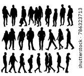 vector  isolated silhouette... | Shutterstock .eps vector #786323713