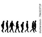 silhouette people go | Shutterstock .eps vector #786323719