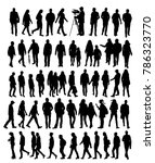 vector  isolated silhouette... | Shutterstock .eps vector #786323770