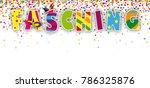 german text fasching  translate ... | Shutterstock .eps vector #786325876