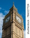 big ben against a blue sky. | Shutterstock . vector #786327724