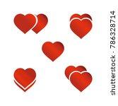 heart icon vector set   Shutterstock .eps vector #786328714