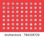 greyscale vector emoji set | Shutterstock .eps vector #786328720
