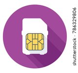 sim card flat colored icon  | Shutterstock .eps vector #786329806