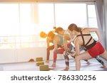 women asian exercising in... | Shutterstock . vector #786330256