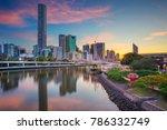 brisbane. cityscape image of... | Shutterstock . vector #786332749
