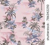 vector of hawaiian tropical... | Shutterstock .eps vector #786342250