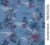 vector of hawaiian tropical... | Shutterstock .eps vector #786342256