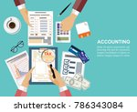 flat design concepts for... | Shutterstock .eps vector #786343084