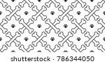 seamless pattern dog bone dog... | Shutterstock .eps vector #786344050