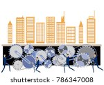 urban structure and gear clip... | Shutterstock .eps vector #786347008