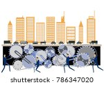 urban structure and gear clip... | Shutterstock .eps vector #786347020
