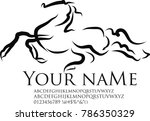 Stock photo branding identity corporate logo design template animal sport horse race image silhouette icon logo 786350329