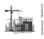 building site work process... | Shutterstock .eps vector #786356170