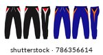 sport sweatpants set.sport... | Shutterstock .eps vector #786356614