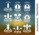 summer vacation in beach sign... | Shutterstock .eps vector #786359650