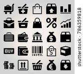 business vector icon set. bag ... | Shutterstock .eps vector #786359818