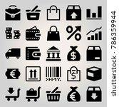 business vector icon set. coin  ... | Shutterstock .eps vector #786359944