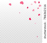 red pink hearts confetti... | Shutterstock .eps vector #786362116