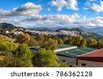 mountain landscape in spanish... | Shutterstock . vector #786362128