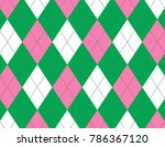 pink and green argyle background | Shutterstock .eps vector #786367120