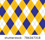 yellow and blue argyle... | Shutterstock .eps vector #786367318