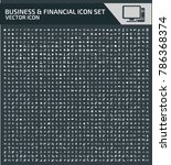 business and financial icon set ... | Shutterstock .eps vector #786368374