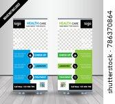 medical blue   green banner...   Shutterstock .eps vector #786370864