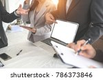 businesspeople meeting and... | Shutterstock . vector #786373846